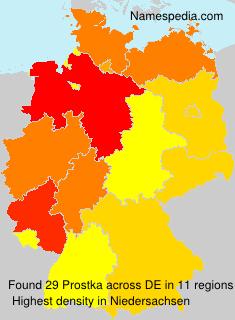 Surname Prostka in Germany