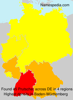 Surname Prutscher in Germany
