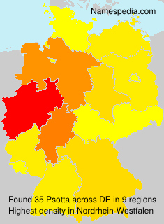 Surname Psotta in Germany