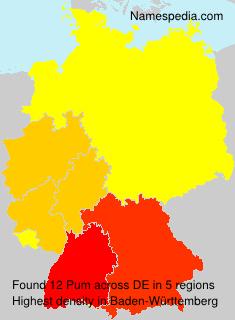 Surname Pum in Germany