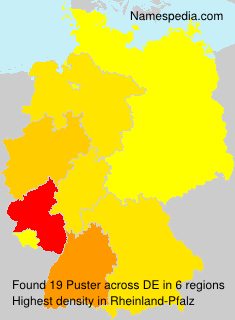 Surname Puster in Germany