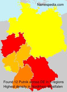 Familiennamen Putnik - Germany