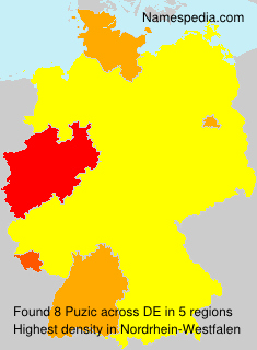 Surname Puzic in Germany