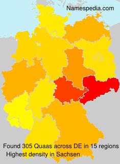 Surname Quaas in Germany