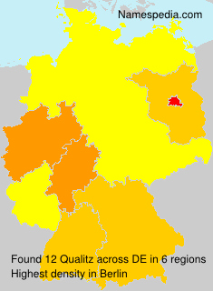 Familiennamen Qualitz - Germany