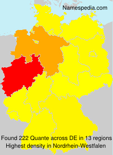 Surname Quante in Germany