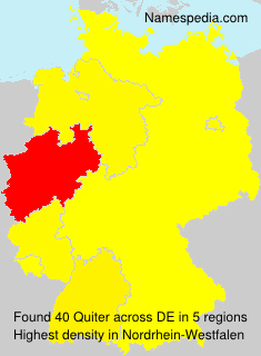 Surname Quiter in Germany