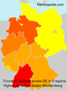 Surname Quittkat in Germany