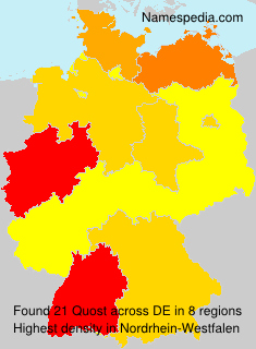 Surname Quost in Germany