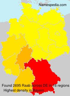 Familiennamen Raab - Germany