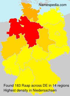 Surname Raap in Germany