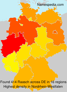 Familiennamen Raasch - Germany