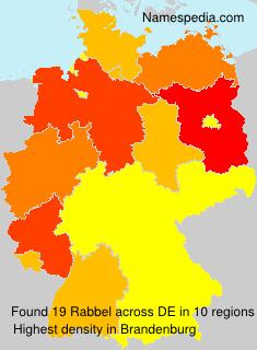 Surname Rabbel in Germany