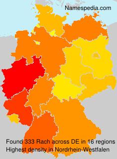 Familiennamen Rach - Germany