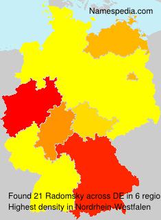 Surname Radomsky in Germany