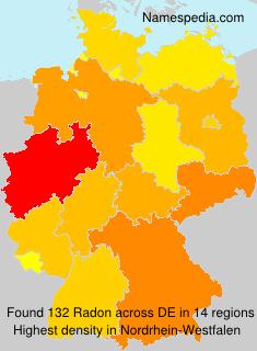 Surname Radon in Germany