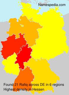 Familiennamen Rafiq - Germany
