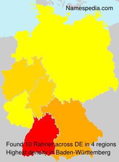 Surname Rahner in Germany