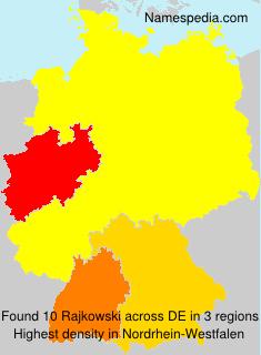 Surname Rajkowski in Germany