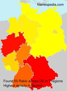 Surname Rakic in Germany