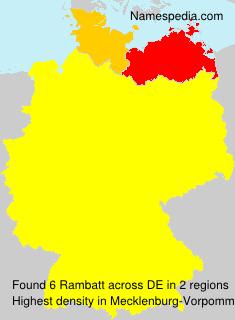 Familiennamen Rambatt - Germany