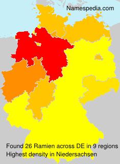 Familiennamen Ramien - Germany