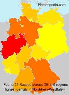 Familiennamen Rassau - Germany