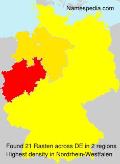 Familiennamen Rasten - Germany