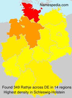 Surname Rathje in Germany