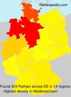 Surname Rathjen in Germany