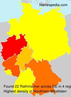 Surname Rathmacher in Germany