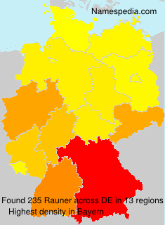 Surname Rauner in Germany