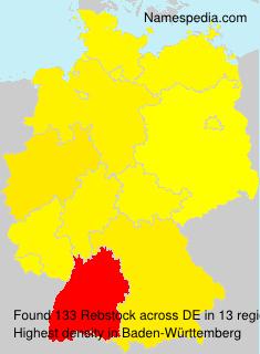 Surname Rebstock in Germany