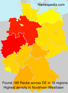 Surname Recke in Germany