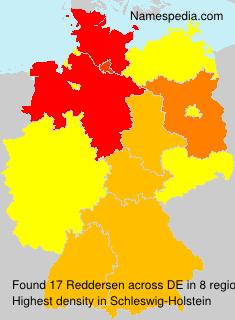 Surname Reddersen in Germany