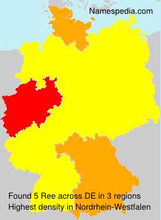 Surname Ree in Germany