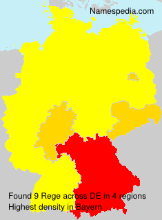 Surname Rege in Germany