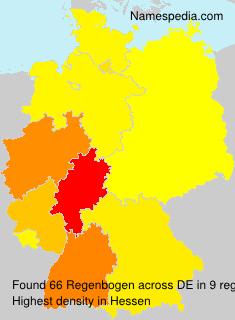 Surname Regenbogen in Germany
