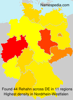 Surname Rehahn in Germany
