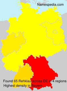 Surname Rehklau in Germany