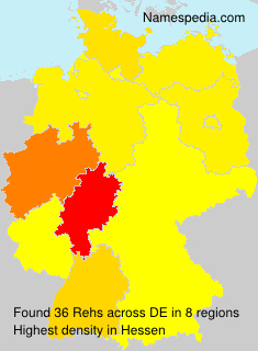 Surname Rehs in Germany