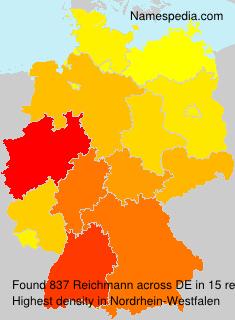 Familiennamen Reichmann - Germany