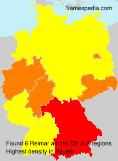 Surname Reimar in Germany
