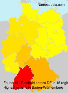 Familiennamen Reinbold - Germany