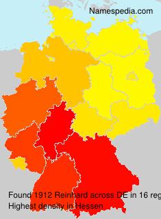 Surname Reinhard in Germany