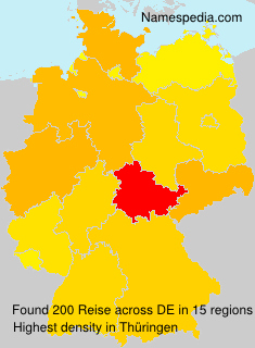 Surname Reise in Germany