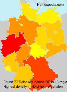 Surname Reisewitz in Germany