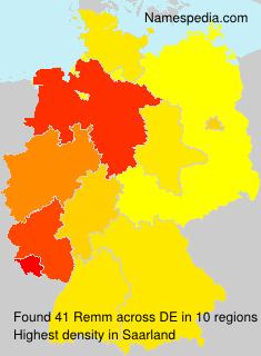 Familiennamen Remm - Germany