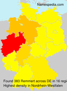 Surname Remmert in Germany