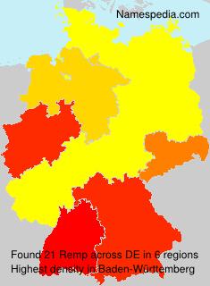 Familiennamen Remp - Germany